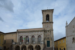 Norcia in Umbrië Italië Stock Foto's