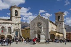 Norcia in Umbria Immagini Stock Libere da Diritti