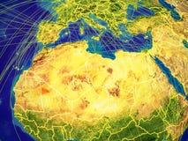 Nord-Afrika auf Erde stock abbildung