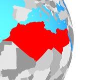 Nord-Afrika auf Kugel lizenzfreie abbildung
