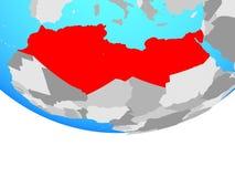 Nord-Afrika auf Kugel stock abbildung