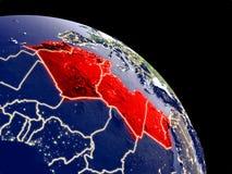 Nord-Afrika vom Raum stock abbildung