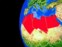 Nord-Afrika vom Raum vektor abbildung
