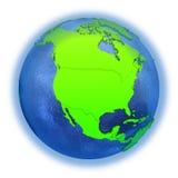 Nord America su terra verde Fotografia Stock Libera da Diritti