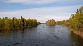 Nord av Russia.Rivers.001 Royaltyfri Fotografi