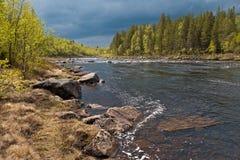 Nord av Russia.Rivers.005 Arkivfoton