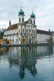 Nord baroque d'église de l'église 1667-1673 de jésuite grand d'abord de Photos libres de droits