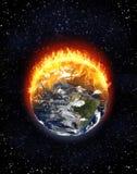 Nord brûlant de globe de la terre et l'Amérique du Sud, concept de changement climatique