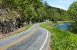 Nord-Carolina Byway Stockbilder