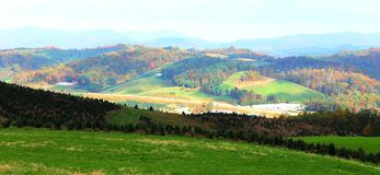 Nord-Carolina Countryside im Herbst Stockbild