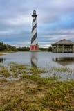 Nord Carolina del faro di Hatteras del capo Fotografia Stock