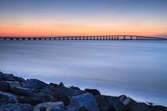 Nord Carolina dell'entrata dell'Oregon del ponte di Bonner fotografia stock libera da diritti