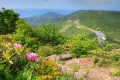 Nord Carolina delle montagne e di Ridge Parkway blu Fotografie Stock Libere da Diritti