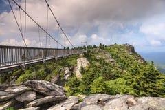 Nord Carolina di prima generazione della montagna del ponte di oscillazione Fotografia Stock Libera da Diritti