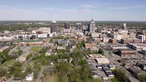 Nord-Carolina Downtown City Skyline Urban Kern Greensburo stock footage