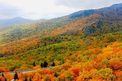 Nord-Carolina Mountains im Herbst Stockbild