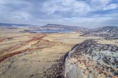Nord-Colorado-Vorbergvogelperspektive Lizenzfreie Stockfotos