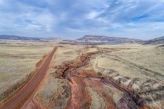 Nord-Colorado-Vorbergvogelperspektive Stockfotografie