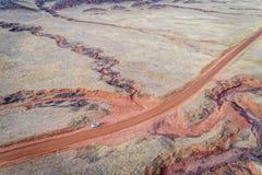 Nord-Colorado-Vorbergvogelperspektive Lizenzfreies Stockbild