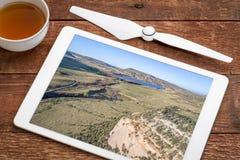 Nord-Colorado-Vorbergvogelperspektive Stockfotos