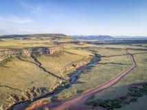 Nord-Colorado-Vorbergvogelperspektive Lizenzfreie Stockbilder