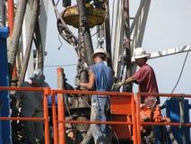 Nord Dakota Rig Roughnecks Fotografie Stock Libere da Diritti