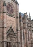 Nord de la fachada, Cathedrale Notre-Dame, Rodez (Francia) Fotografía de archivo libre de regalías