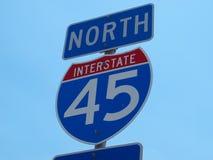 Nord de signe d'autoroute nationale Images libres de droits