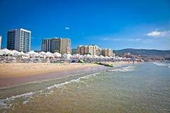 Nord del av stranden i Nessebar, Bulgarien Royaltyfri Foto