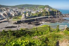 Nord-Devon England BRITISCHER touristischer Bestimmungsort Ilfracombe im Sommer Stockbild