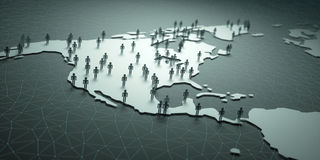 Nord e popolazione dell'America Centrale Immagini Stock