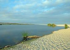Nord för shoreline för San Jose Del Cabo Lagoon/bred flodmynningnaturreserv precis av Cabo San Lucas Baja Mexico arkivfoton