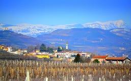 Nord magnifique Italie de paysage d'hiver images libres de droits