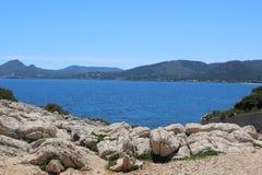 Nord Majorque de vue de mer Photos stock