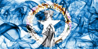 Nord-Mariana Islands-Rauchflagge, abhängige Gebietsflagge Vereinigter Staaten Lizenzfreies Stockfoto