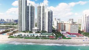 Nord Miami Beach de vue aérienne banque de vidéos