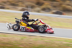 Nord-Nevada Kids Kart Club Racing Stockbilder