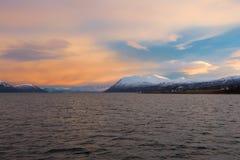 Nord-Norwegen-Sonnenaufgang Lizenzfreies Stockbild