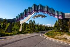 Nord-Norwegen-Tor Lizenzfreies Stockfoto
