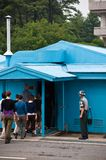 Nord- och Sydkorea för JSA DMZ gräns Arkivfoton