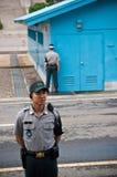 Nord- och Sydkorea för JSA DMZ gräns Arkivbild