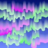 Nord- oder Polarlichter, Kopieraumhintergrund, Vektorillustration Stockbild