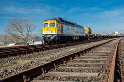 Nord-Ostsee-Bahn between Sylt and Hamburg! Royalty Free Stock Images