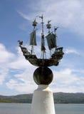 Nord Pays de Galles de bord du quai de sculpture en Portmeirion Image libre de droits