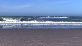 Nord Sea Tide Waves Royalty Free Stock Photo
