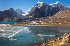 Nord Sikkim de lac mountain - lac Gurudongmar Image stock