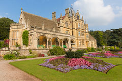 Nord-Somerset England BRITISCHE viktorianische Villa Tyntesfield-Haus Wraxhall, die schöne Blumengärten kennzeichnet Lizenzfreie Stockbilder