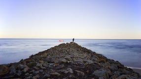 Nord-Stradbroke-Insel-Australien-Wellenbrecher Stockbilder