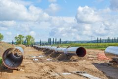 Nord Stream2 gas pipeline royalty free stock photography