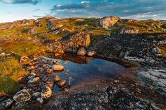 Nord summer landscape behind polar circle. Stock Photography